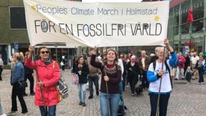 People´s Climate March i Halmstad 2018 - för en fossilfri värld