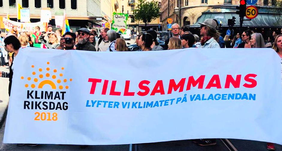 Bild från People's Climate March Stockholm 2018-09-08